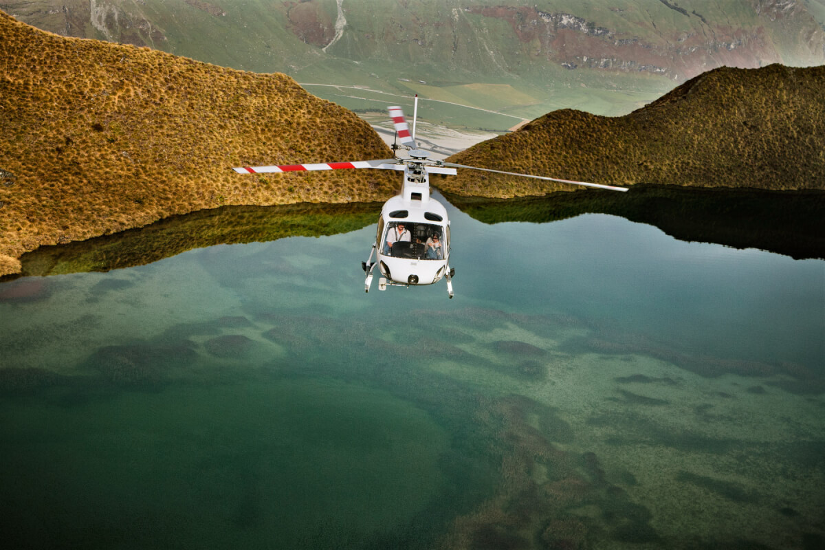 Aerial helicopter photography