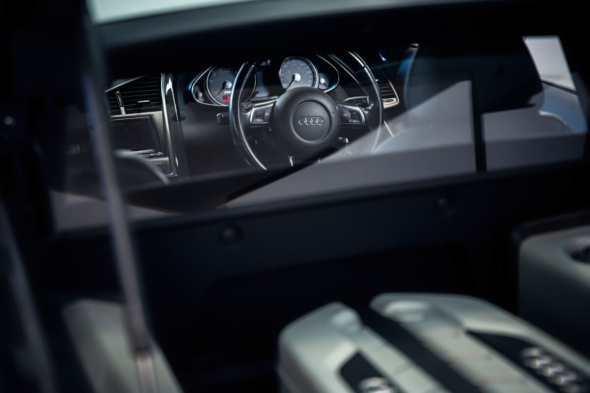 Car Photography, Car Interiors,Audi R8, Car photographer Queenstown