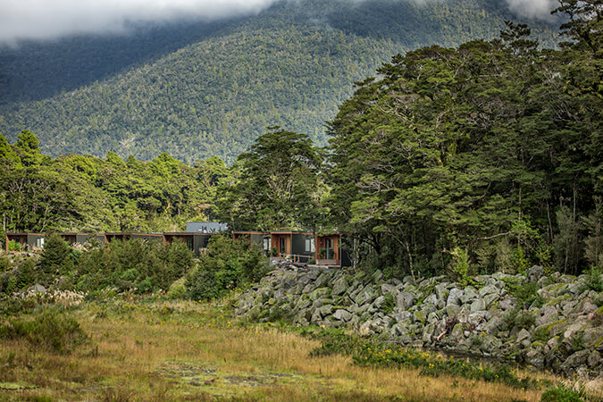 Milford sounds lodge, architectural shoot Milford, Commercial photographer Queenstown