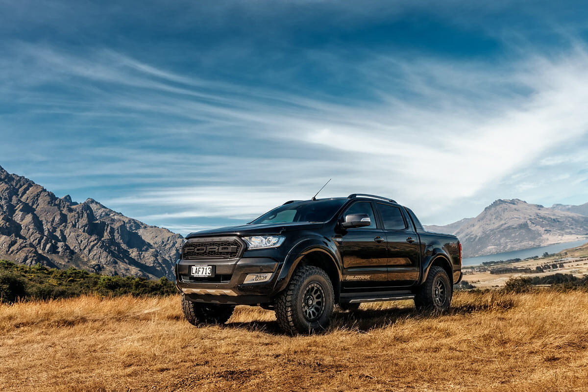 car photography of Ford Ranger Queenstown